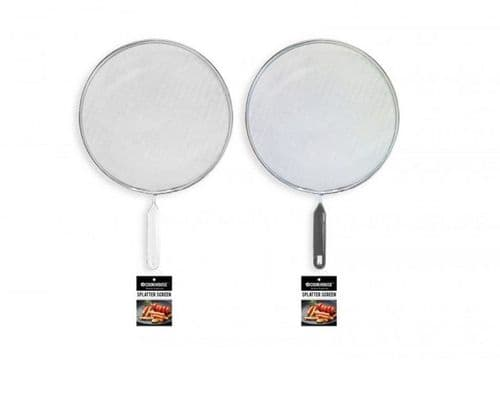 Cook House Splatter Screen With Handle Splatter Screen White Or Grey Handle